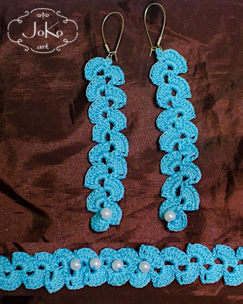 Biżuteria komplet (crochet jewelry) 01/2014
