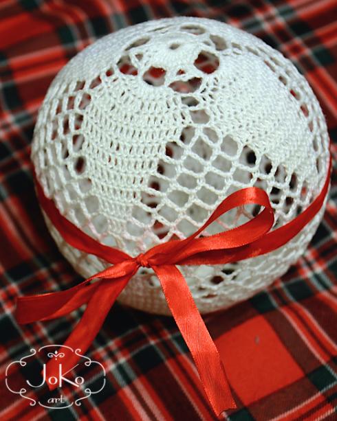Bombka szydełkowa (Christmas bauble) 02/2014