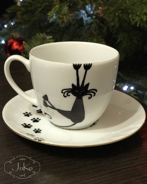 Filiżanka z kotem (Cup with a cat) 12/2017