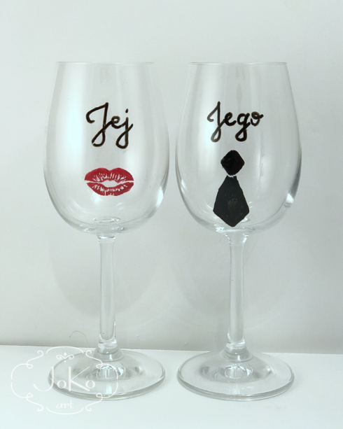 Kieliszki na ślub (Wedding glasses for wine) 01/2018