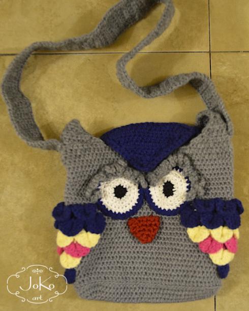 Torebka – sowa (crochet owl bag) 02/2015