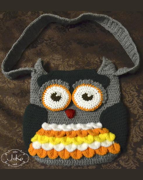 Torebka sowa (crochet owl bag) 06/2016