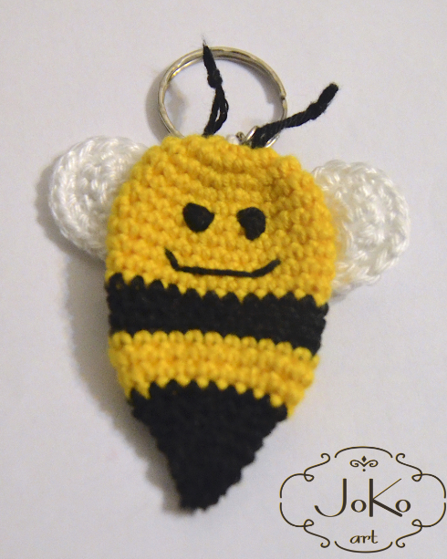 Brelok pszczoła (crochet bee keychain) 06/2016
