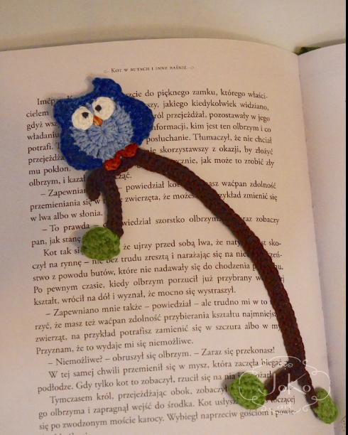 Zakładka sowa (owl bookmark) 04/2016