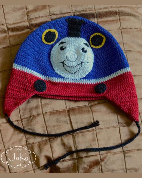 Czapka Tomek i przyjaciele (crochet hat – Thomas the steam engine) 01/2015