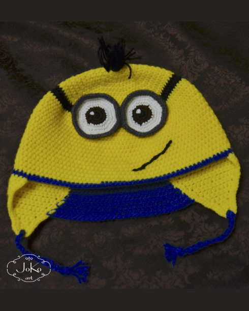 Czapka minionkowa (crochet Minion hat) 05/2016