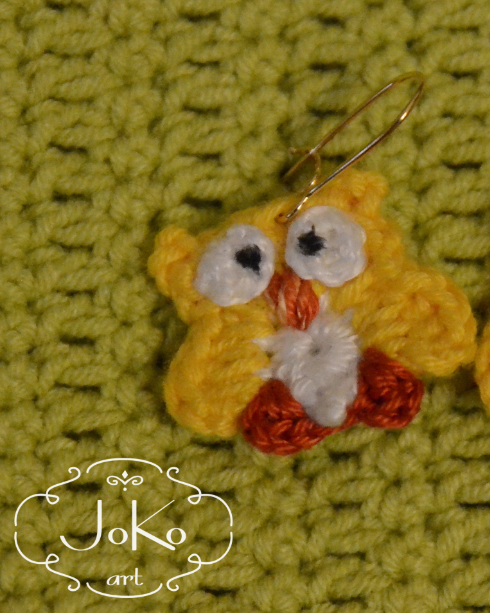 Kolczyki sowa (earrings owl) 09/2016
