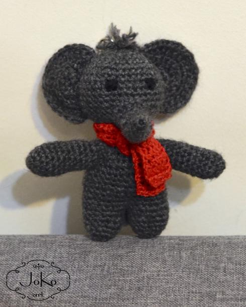Słoń brelok (crochet elephant keychain) 04/2016