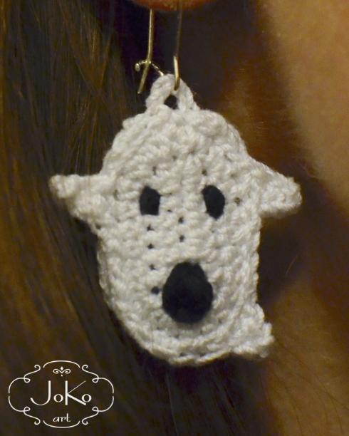 Kolczyki duszek (earrings ghost) 04/2016