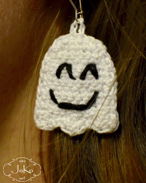 Kolczyki duszek (earrings ghost) 08/2016