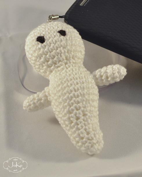 Duszek zawieszka do telefonu (label crochet ghost) 02/2016