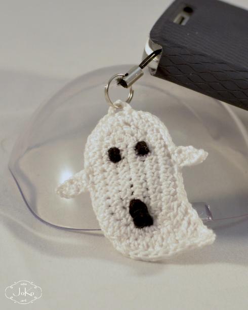 Duszek zawieszka do telefonu (label crochet ghost) 03/2016