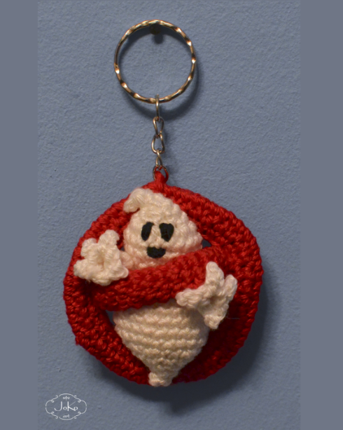 """Brelok """"Pogromcy duchów"""" (crochet Ghostbusters' keychain) 02/2016"""