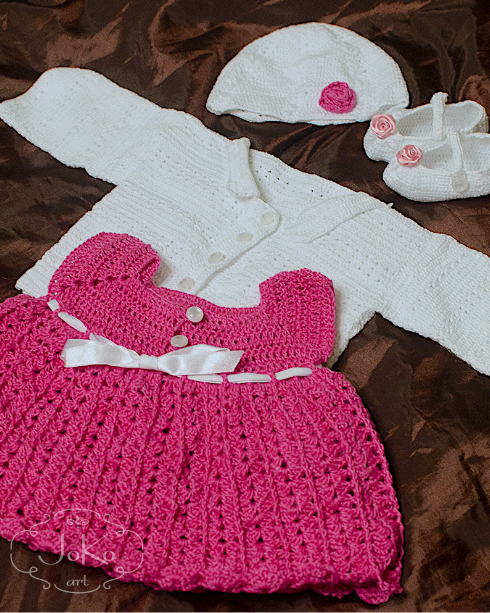 Komplet dla bobasa (3-piece crochet set for toddler) 01/2014