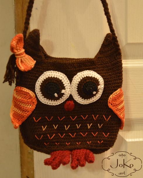 Torebka – sowa (crochet owl bag) 07/2016