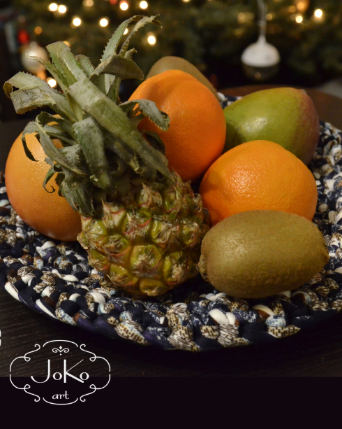 Talerz na owoce (crochet fruits plate) 01/2016