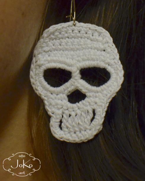 Kolczyki czaszki (earrings skull) 03/2016